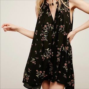 Free People Tree Swing Sleeveless Floral Tunic Top
